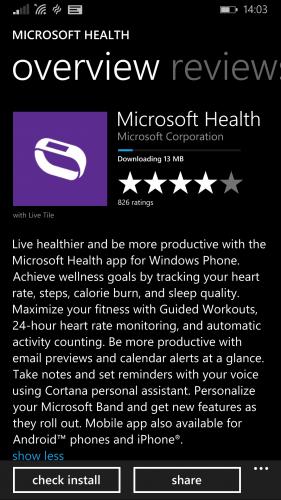 MS Health App