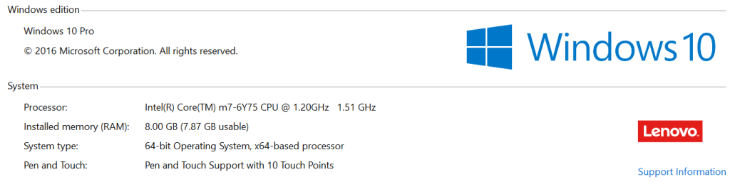 Thinkpad Tablet Specs