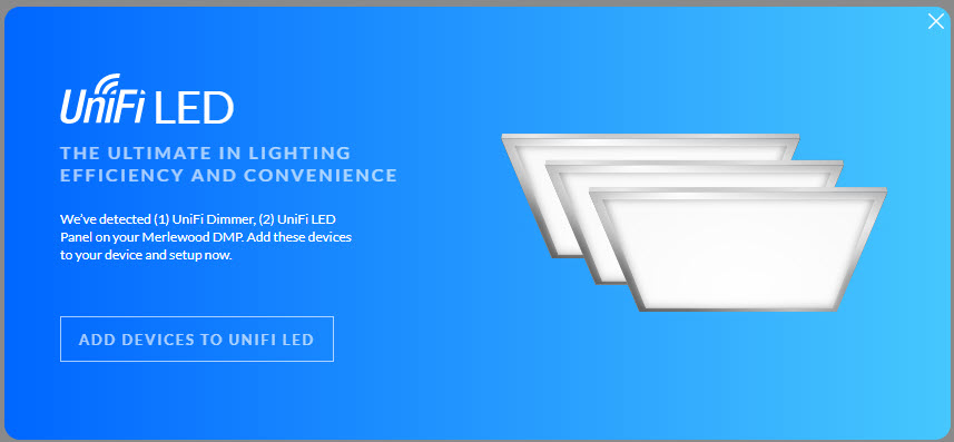 Unifi LED start